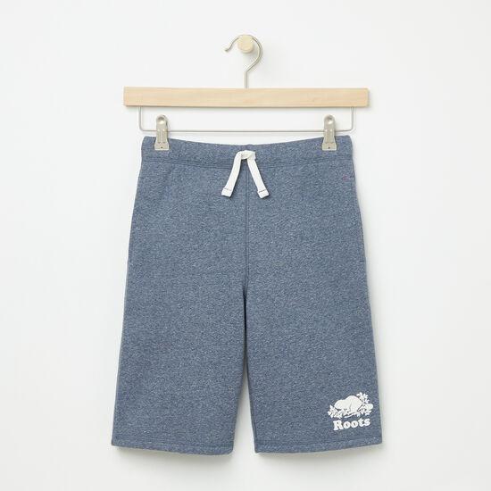 Roots-Kids Bottoms-Boys Original Athletic Shorts-Cascade Blue Pepper-A