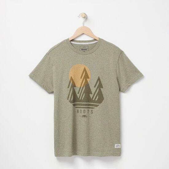 Roots-Men Graphic T-shirts-Bluff Organic T-shirt-Lichen Mix-A