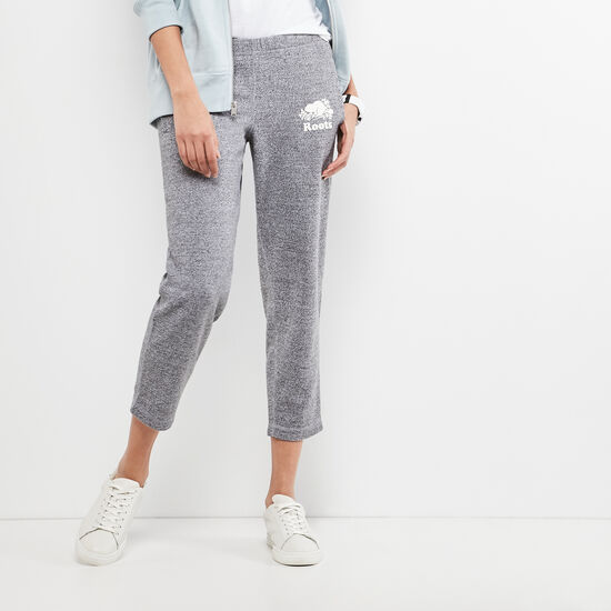 Roots-Women Slim Sweatpants-Original Ankle Sweatpant-Salt & Pepper-A