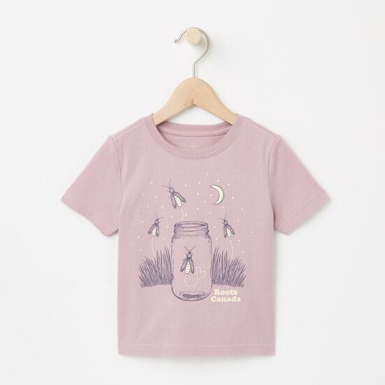 Roots-Kids T-shirts-Toddler Night Glow T-shirt-Mauve Shadows-A