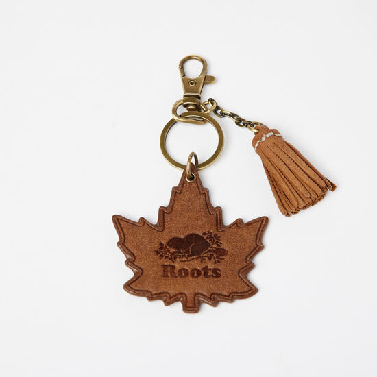 Roots-Men Small Leather Goods-Maple Leaf Fringe Keychain Tribe-Africa-A