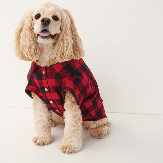 Roots X Canada Pooch Flannel Shirt - Size 18