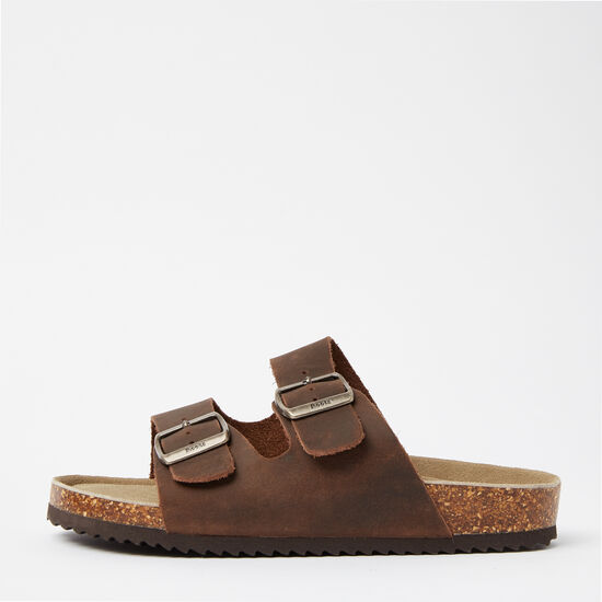 Roots-Shoes Men's Shoes-Mens Natural Roots 2 Strap Sandal-Brown-A