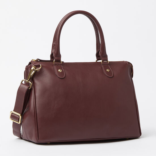 Roots-Women Bags-Small Grace Bag Bolzano-Garnet-A