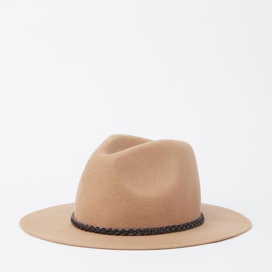 Roots-Women Hats-Annie Felt Fedora-Fungi-A