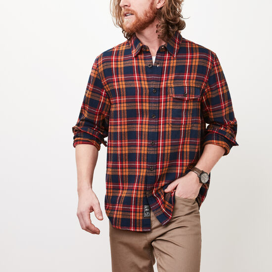 Roots-Men Shirts & Polos-Bonavista  Flannel Shirt-Lemieux Gold-A