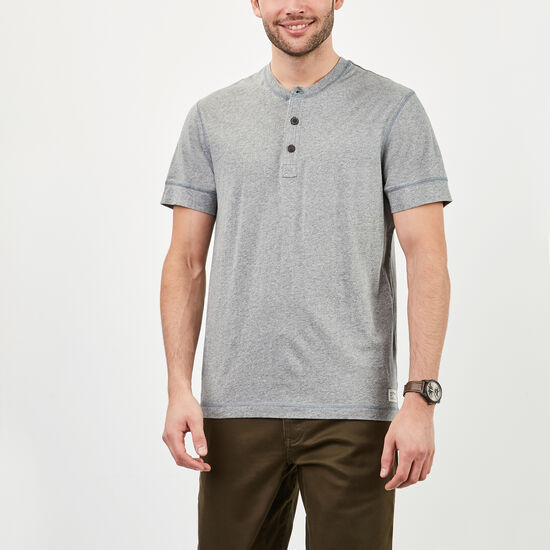 Roots-Men Tops-New Guelph Henley-Bluestone Pepper-A