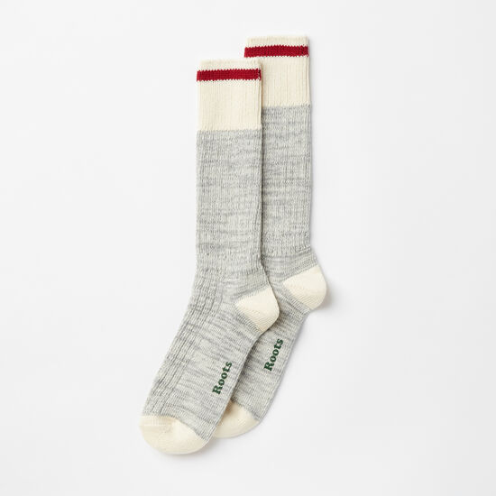 Roots-Women Socks-Womens Park Sock 2 Pack-Grey Mix-A