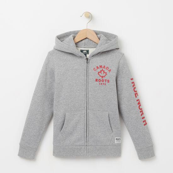 Roots-Sale Kids-Boys True North Full Zip Hoody-Grey Mix-A