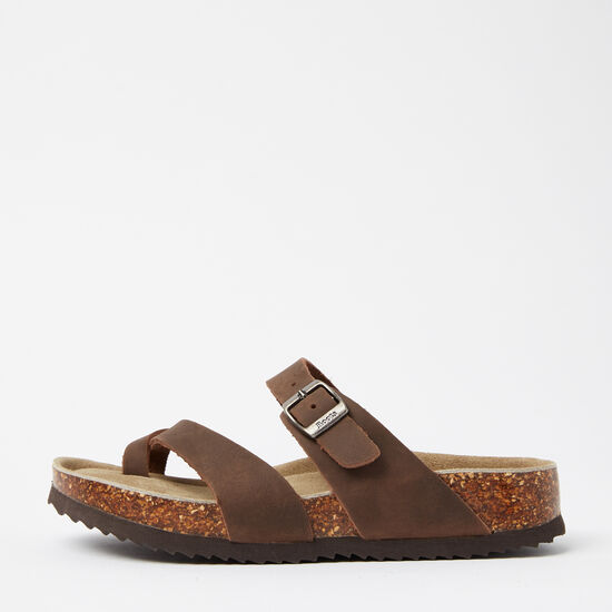 Roots-Shoes Women's Shoes-Womens Natural Roots Toe Loop Sandal-Brown-A