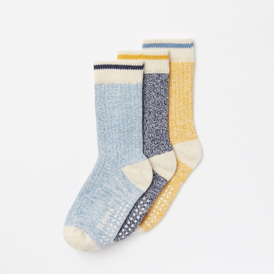 Roots-Kids New Arrivals-Toddler Cabin Sock 3 Pack-Cascade Blue-A