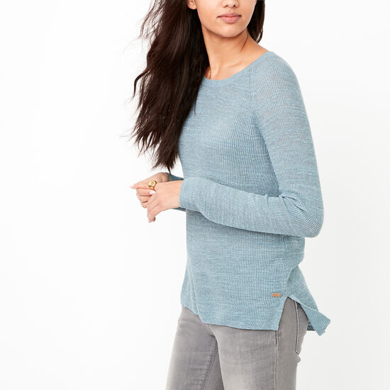 Roots-Women Tops-Ridgeview Sweater-Bluestone Mix-A