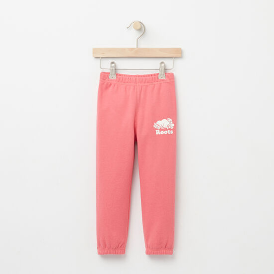 Roots-Kids Toddler Girls-Toddler Original Slim Sweatpant RTS-Rapture Rose-A