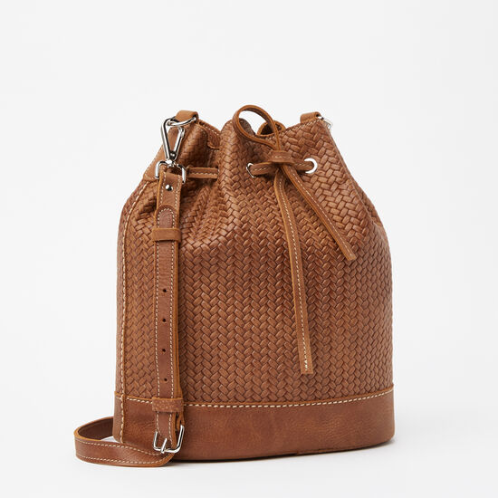 Roots-Women Bags-Maritime Bucket Bag Woven-Africa-A