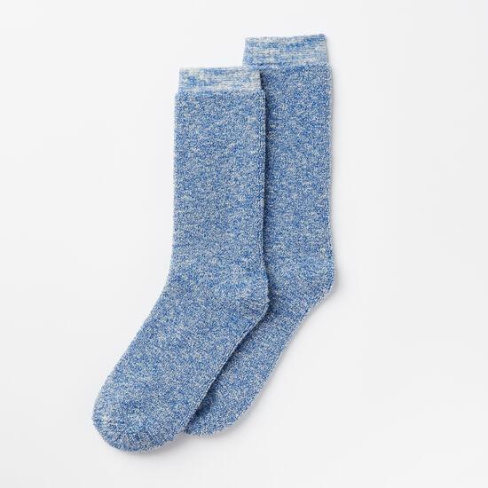 Roots-Men Socks-Mens Trail Crew Sock-True Blue-A