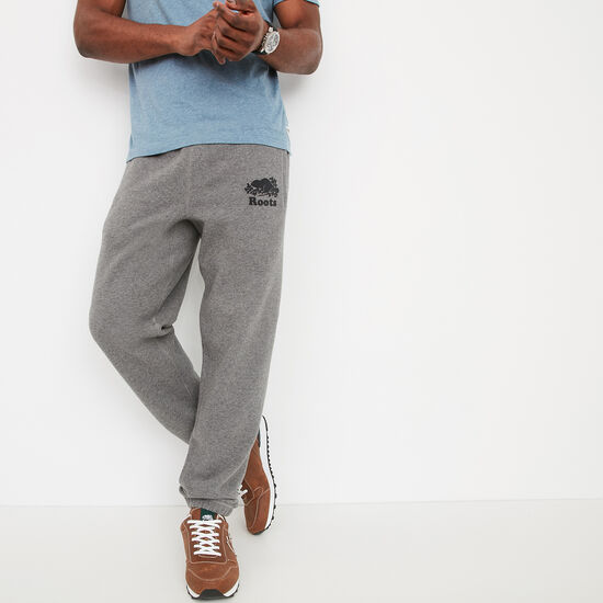 Roots-Men Bottoms-Original Sweatpant-Medium Grey Mix-A