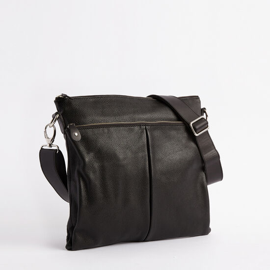 Roots-Leather Bestsellers-Cargo Bag Prince-Black-A