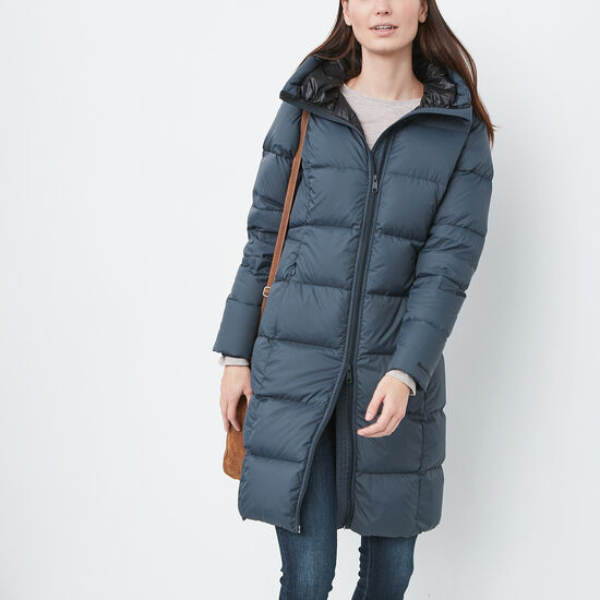 Roots-Sale Women's-Algonquin Duvet Coat-Charcoal Blue-A