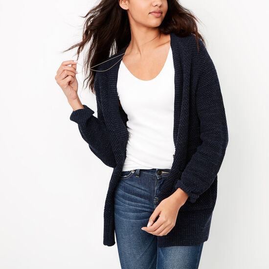 Roots-Women Tops-Ridgeview Cardigan-Cascade Blue Mix-A