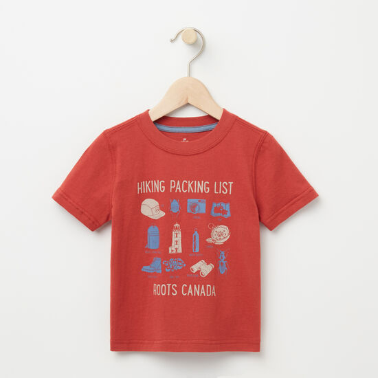 Roots-Kids T-shirts-Toddler Hiking Packing List T-shirt-Bossa Nova-A