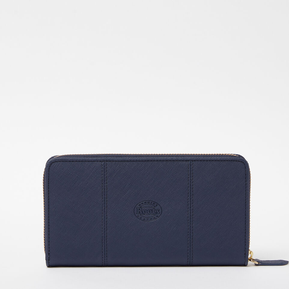 Roots-undefined-Open Flat Wallet Saffiano-undefined-C