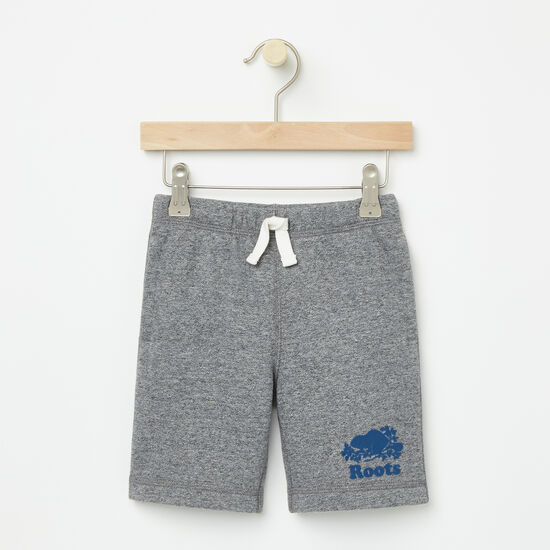 Roots-Kids Bottoms-Toddler Original Athletic Shorts-Granite Mix-A