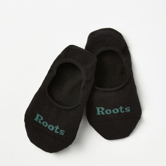 Roots-Hommes Chaussettes-Socquettes Hommes Pqt2-Noir-A