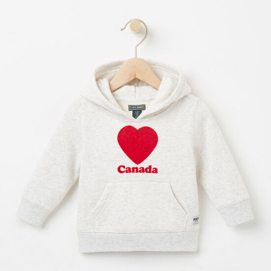 Roots-Kids Baby Girl-Baby Love Canada Kanga Hoody-Snowy Ice Mix-A