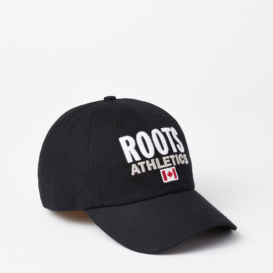 Roots-Men Hats-Franklin Roots Baseball Cap-Black-A