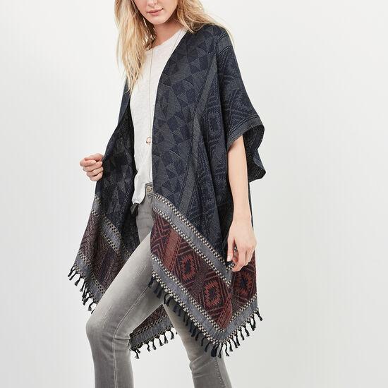 Roots-Women Scarves & Wraps-Aurelie Kimono-Cascade Blue-A