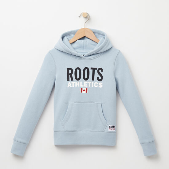 Roots-Kids Roots Re-issue-Girls Roots Re-issue Kanga Hoody-Celestial Blue-A