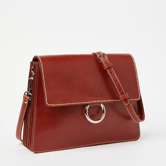 Roots-Leather Shoulder Bags-Grand Bardo Horween-Cognac-A