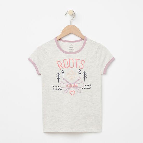 Roots-Enfants Enfants Mélangez Et Associez 2 Pour 35$-Filles T-shirt Lucy Ringer-Mélange Blanc Gris-A