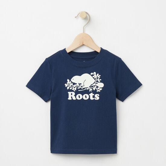 Roots-Kids T-shirts-Toddler Cooper Beaver T-shirt-Cascade Blue-A