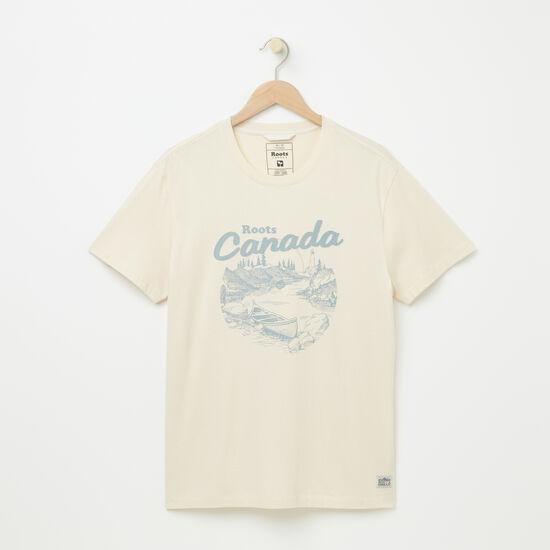 Roots-Men Tops-Morell Organic T-shirt-Birch White-A