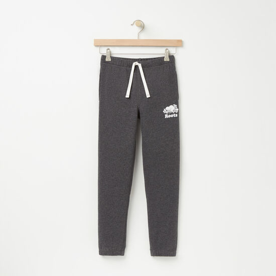 Roots-Kids Boys-Boys Slim Sweatpant-Charcoal Mix-A