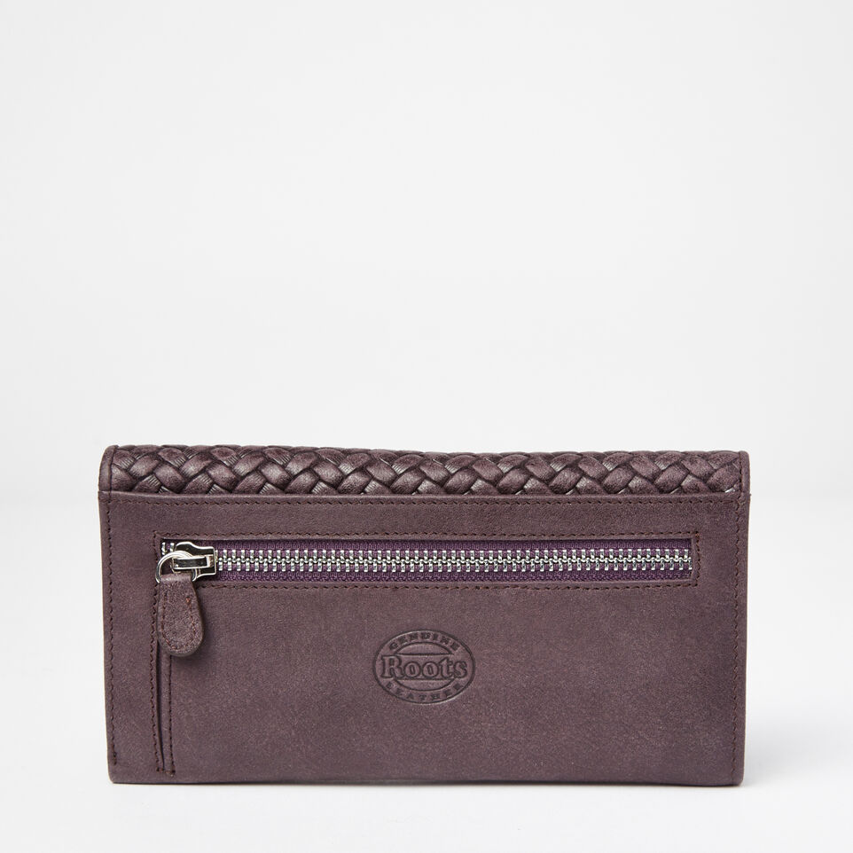 Roots-undefined-Medium Trifold Wallet Woven-undefined-C