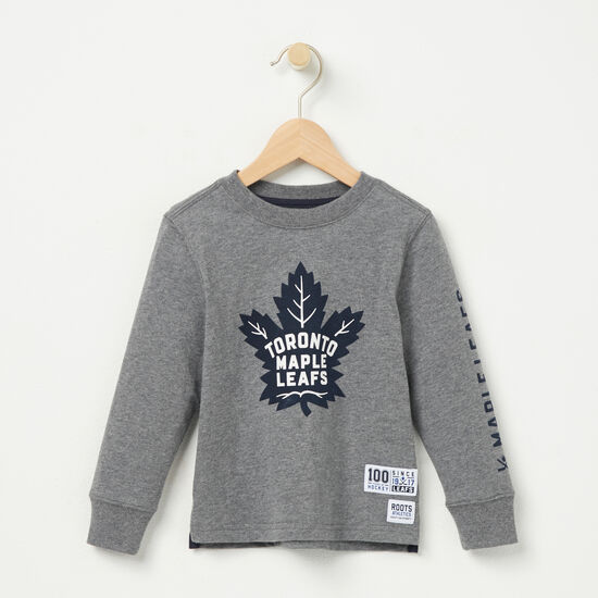 Roots-Kids T-shirts-Toddler TML Left Wing T-shirt-Med Grey Mix-A