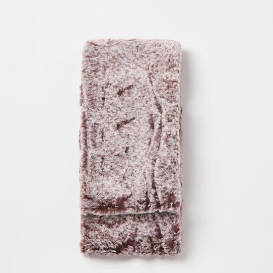 Roots-Women Scarves & Wraps-Anastasia Faux Fur Tippet-Cabernet-A