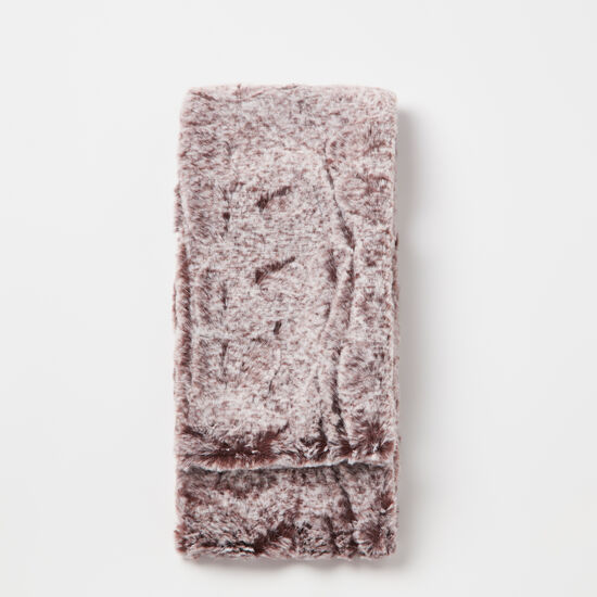 Roots-Women Accessories-Anastasia Faux Fur Tippet-Cabernet-A