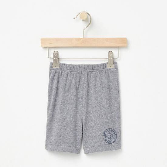 Roots-Kids Bottoms-Baby Moncton Shorts-Medium Grey Mix-A