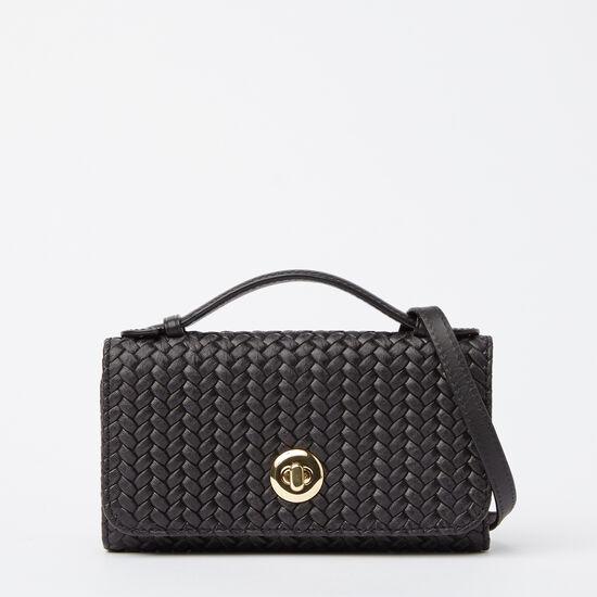 Turn Lock Wallet Bag Woven