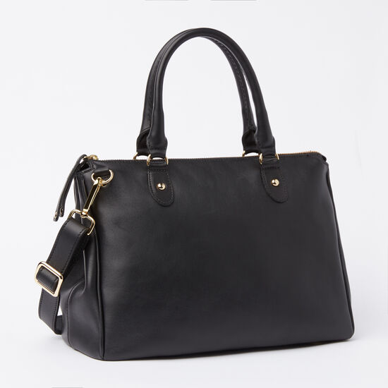 Roots-Leather Bestsellers-Small Grace Bag Box-Black-A