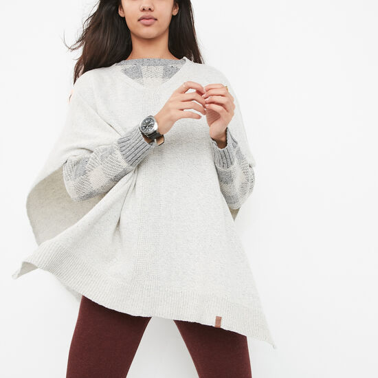Roots-Women Bestsellers-Shelli Poncho-Light Grey Mix-A