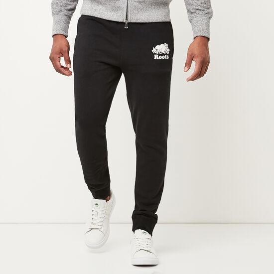Roots-Men Slim Sweatpants-Park Slim Sweatpant-Black-A