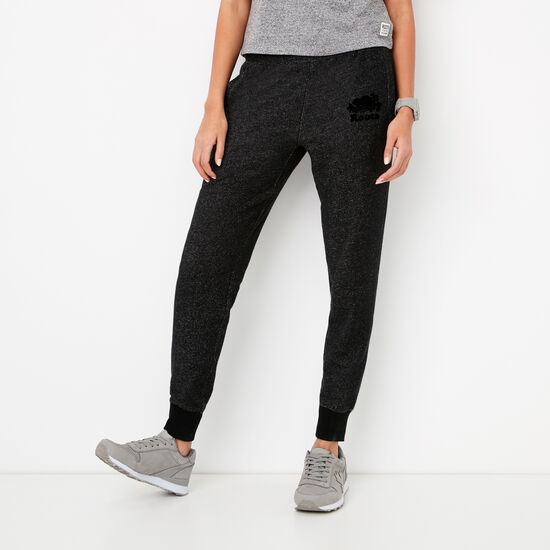 Roots-Women Slim Sweatpants-Slim Charlotte Jogger-Black Pepper-A