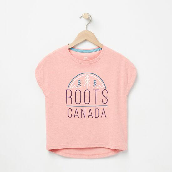 Roots-Enfants Enfants Mélangez Et Associez 2 Pour 35$-Filles Haut Carré Sydney-Fleur De Pêcher-A
