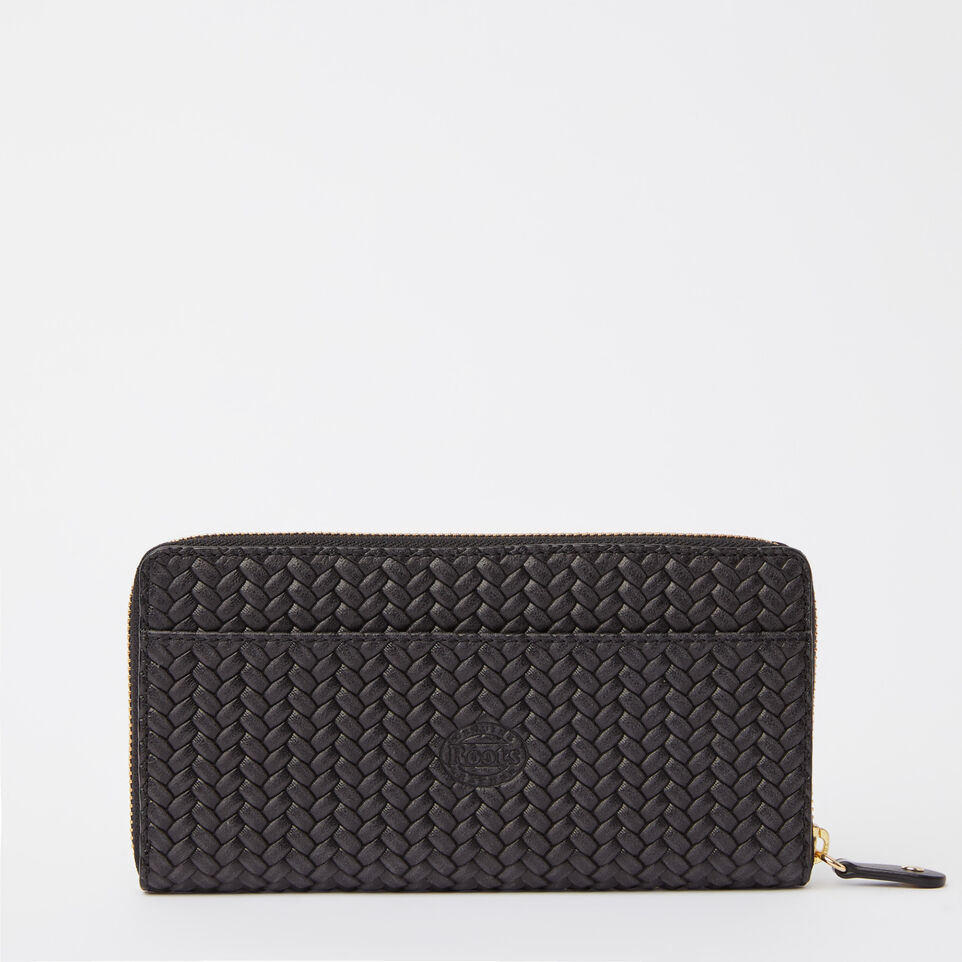 Roots-undefined-Zip Around Wallet Woven-undefined-C
