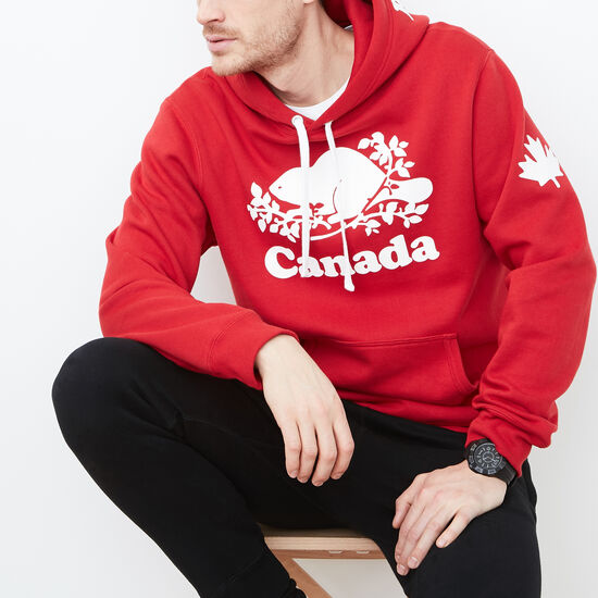 Roots-Hommes Sweats-Chand Kang Cap Cooper Canada-Rouge Sauge-A