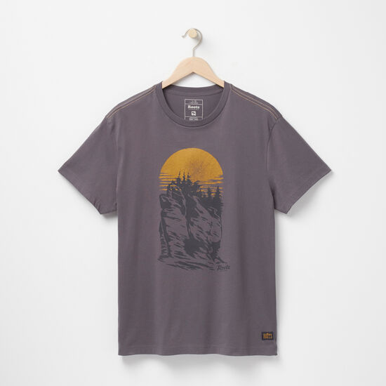 Roots-Men Graphic T-shirts-Explore Organic T-shirt-Blackened Pearl-A